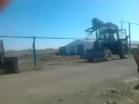 Russian Way To Start A Bulldozer