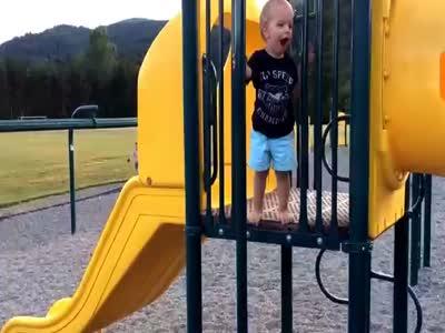 Boy On Slide Fail