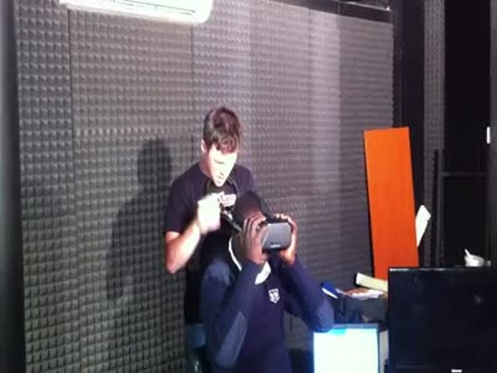 Funny Reaction To Testing Oculus Rift