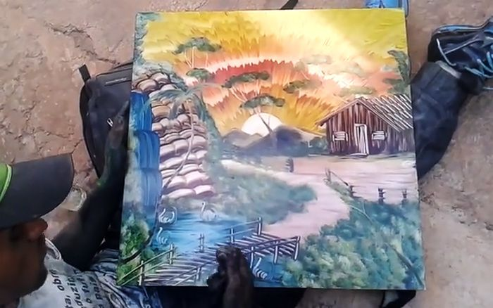 A Fast Finger Painting Masterpiece (5 gifs)
