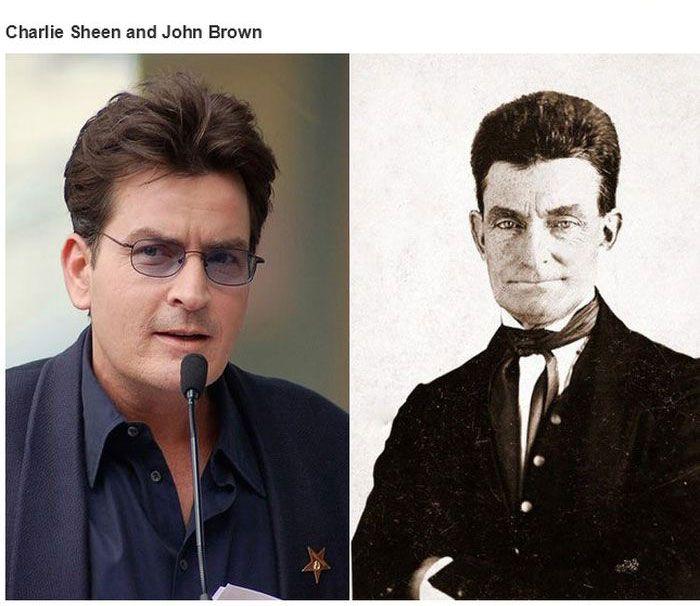 Historical Doppelgangers of Celebrities (34 pics)