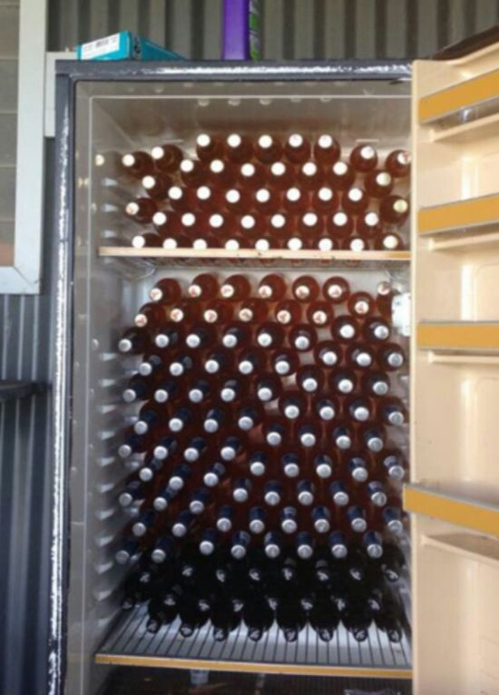 This Is Why You Don't Stack Beer (2 pics)