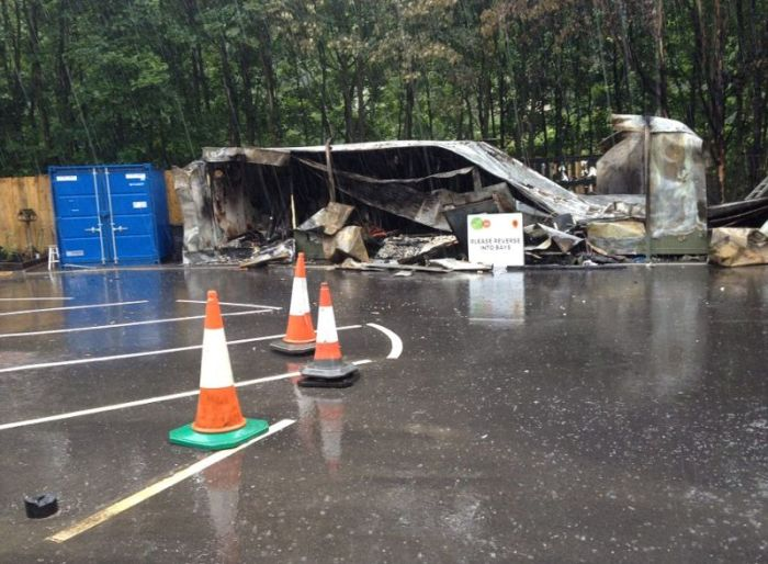 Man Destroys Recycling Center (13 pics)