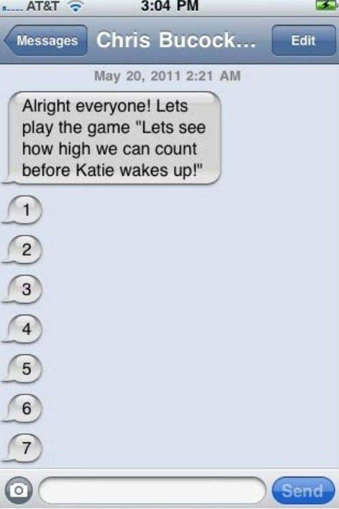 How High Do You Have To Count To Wake Up Katie (4 pics)