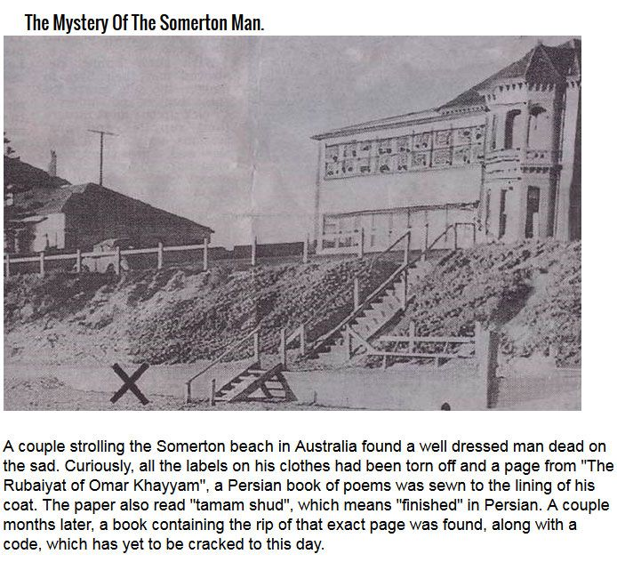 Notorious Unsolved Mysteries (6 pics)