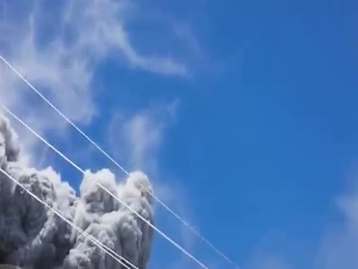 Japanese Mountain Climbers Surprised By The Volcano