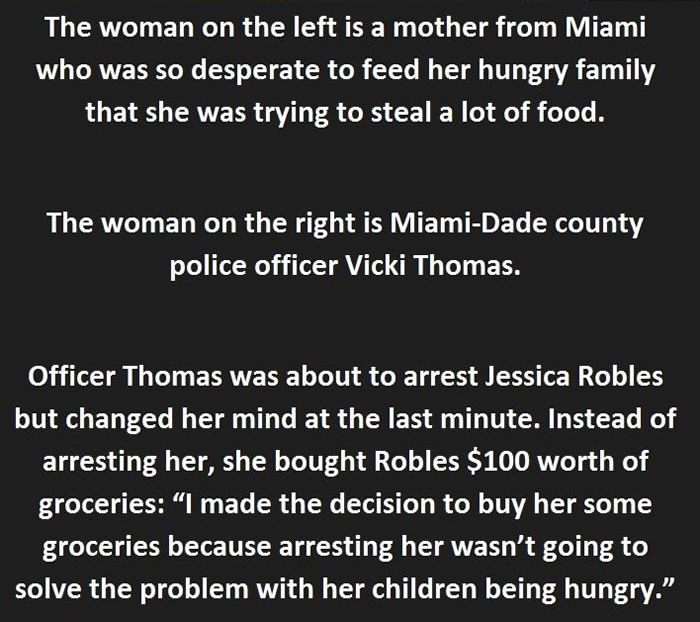 Heartwarming Story Of A Woman That Was About To Be Arrested (4 pics)