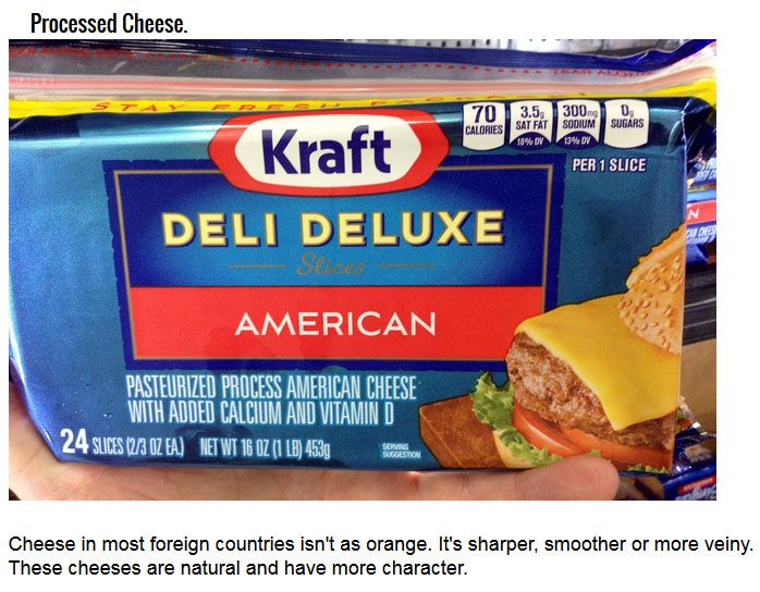 The Difference Between America's Food And The Rest Of The World (10 pics)