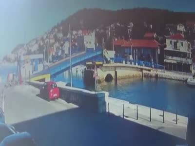 Croatian Woman Drives Over Drawbridge
