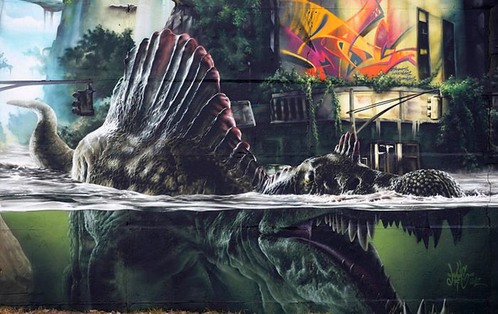 This Jurassic Park Inspired Wall Is A Masterpiece (25 pics)