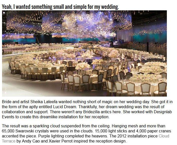 Wedding Reception Looks Like A Living Dream (5 pics)