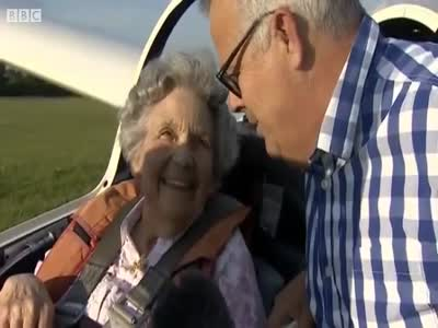 Woman Celebrates Her 100th Birthday While Piloting The Plane