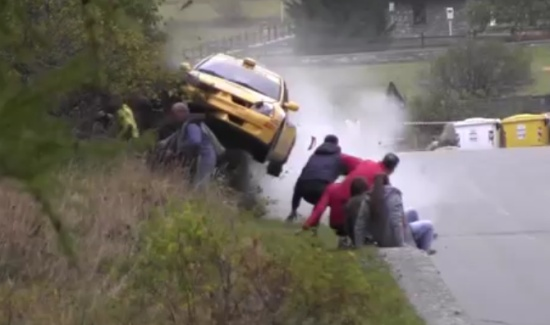 The Luckiest Ever Rally Spectators