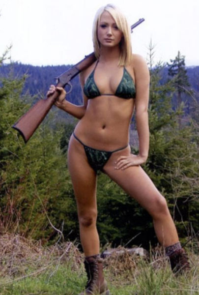 from August nude girls in camo pic