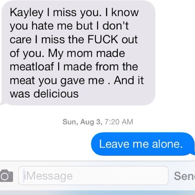 Hilarious And Depressing Texts From Your Ex (25 pics)