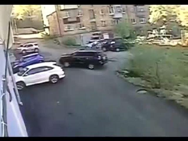 Girl Crashes Her New Lexus