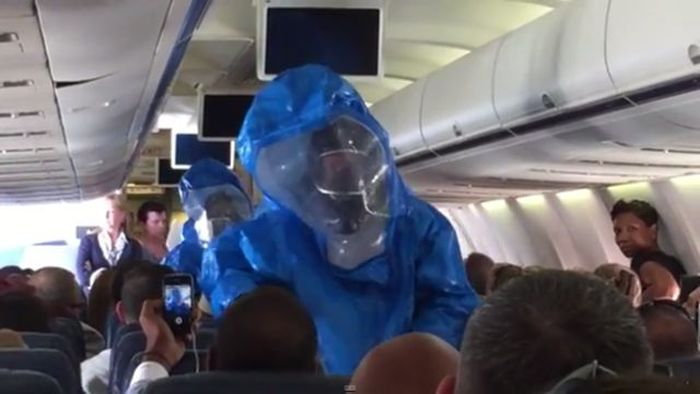 This Is Why You Shouldn't Joke About Ebola On A Place (10 pics + video)