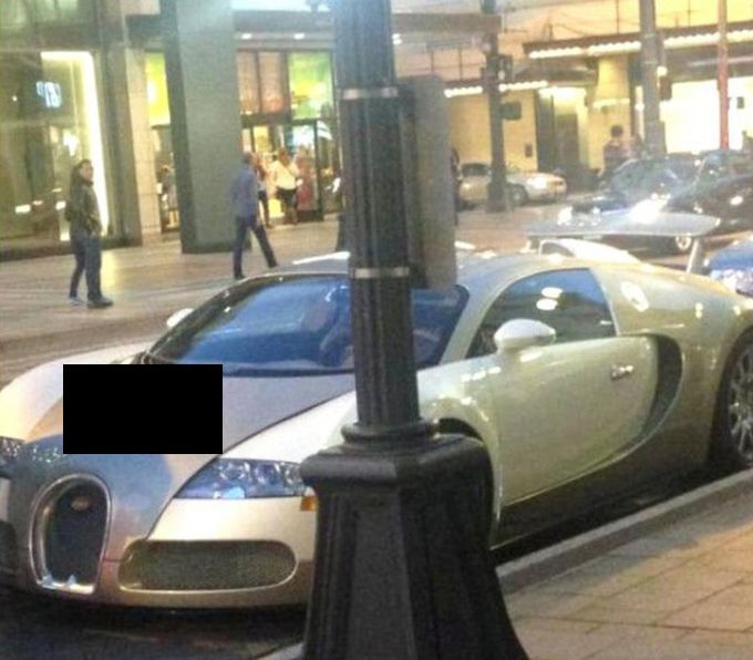 Bugatti Veyron Gets An Unfortunate Picture Added To It (3 pics)