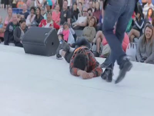 Kid Passes Out on Stage
