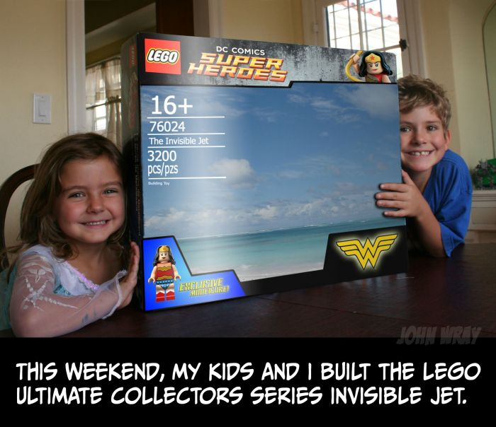 How To Build Wonder Woman's Invisible Jet With Legos (6 pics)