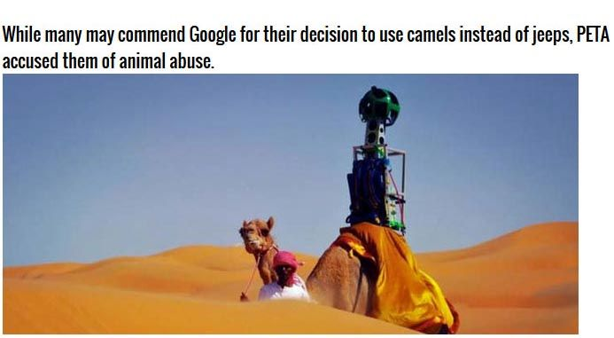 Cars Aren't The Only Thing That Google Uses For Google Maps (12 pics)