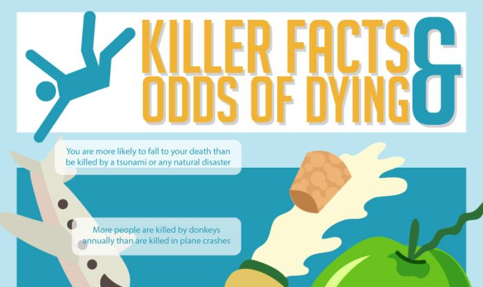 Facts About Death And The Odds Of Dying (infographic)