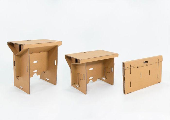 The Cardboard Desk You Can Take Anywhere (9 pics)