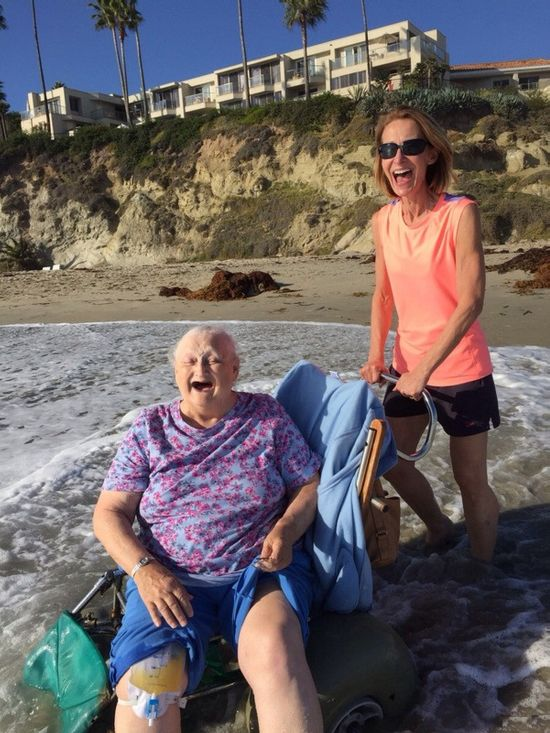 WAT Grandmother Goes To The Beach (2 pics)