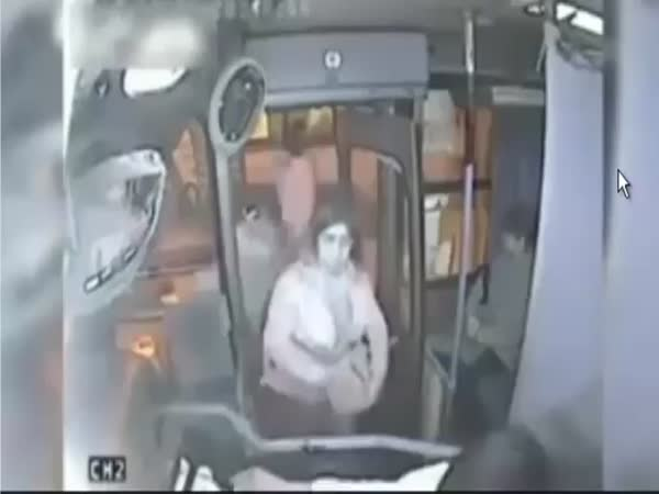 Bus Driver Punishes a Thief in Chile