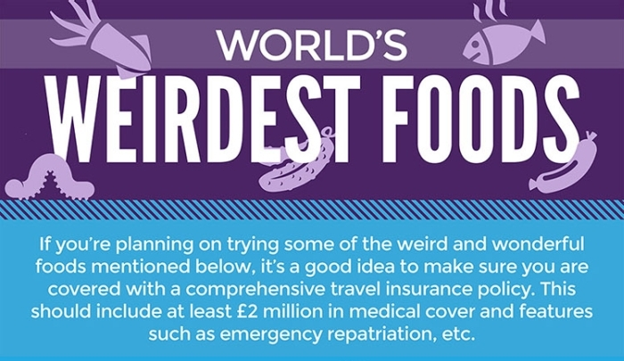 The Weirdest Foods From All Over The World (infographic)