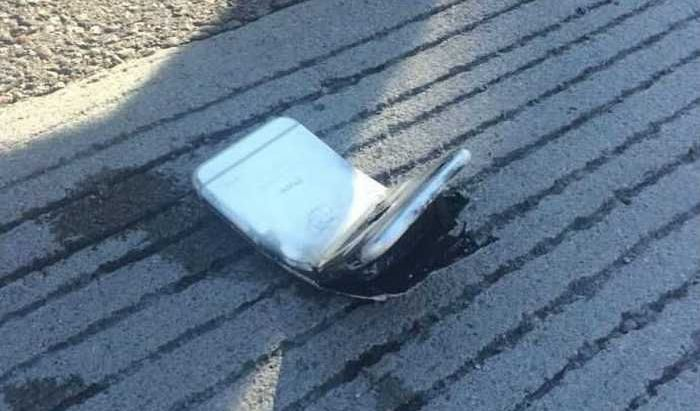 iPhone 6 Catches Fire (5 pics)