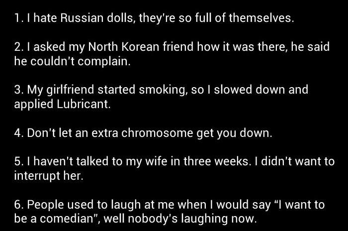 21 One Line Jokes You Need To Memorize (5 pics)