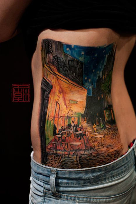 Mind Blowing Tattoos Inspired By Real Art (41 pics)