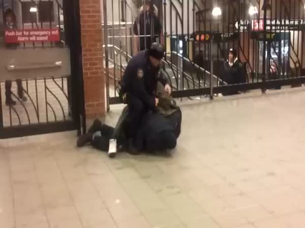 Cop Kicks Fellow Officer in the Head Instead of Suspect