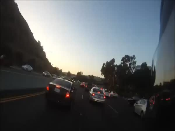Motorcyclist Rescues Girl From Overturned Car