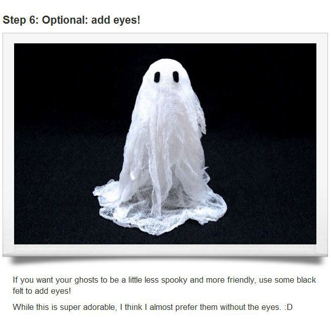 How To Make Ghosts With Cheesecloth (9 pics)