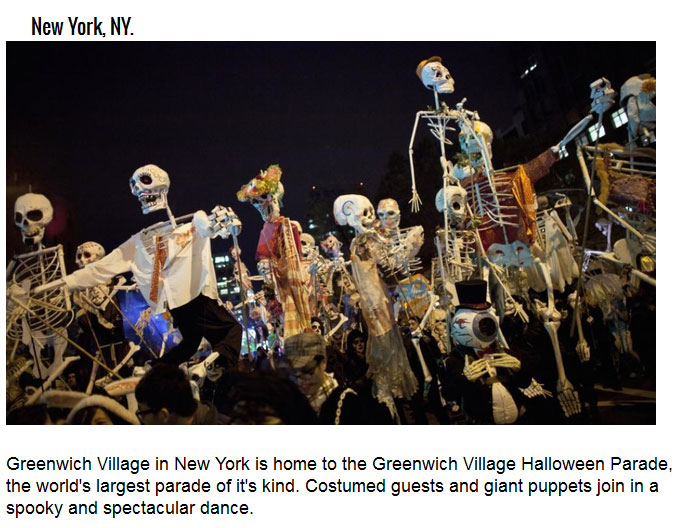 The Coolest Cities To Visit For Halloween Festivities (9 pics)