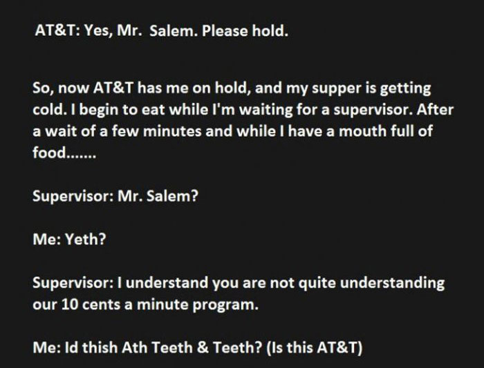 When AT&T Interrupts Your Dinner You Troll Them Hard (8 pics)