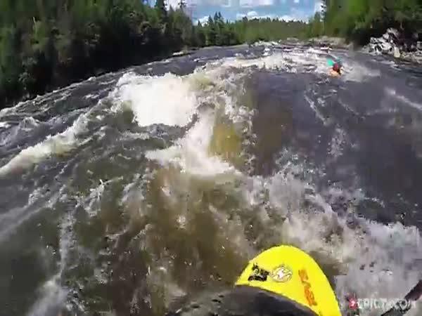 Whirlpool Swallows a Kayaker