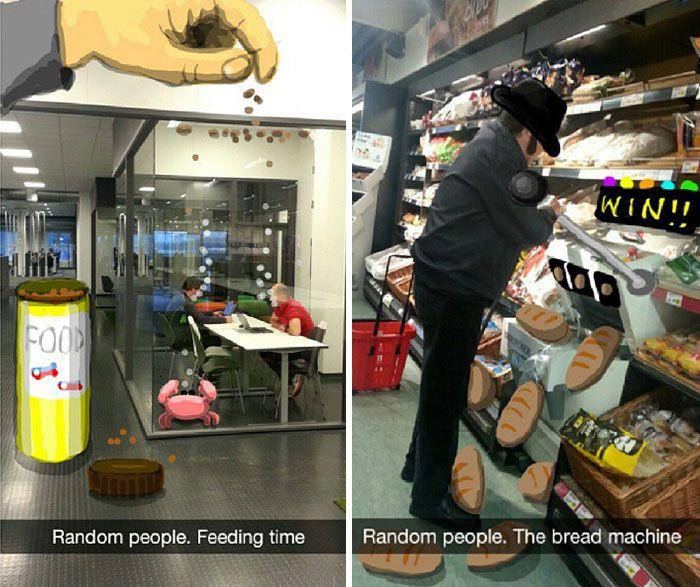 Snapchat User Turns Random People Into Works Of Art (21 pics)
