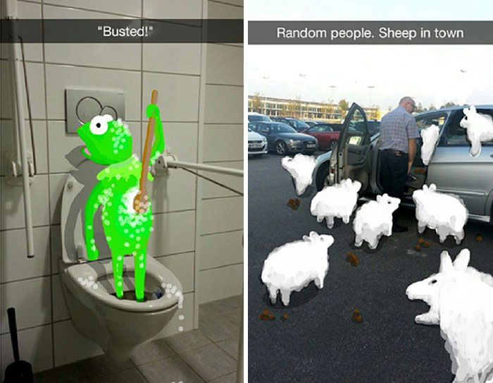 Snapchat User Turns Random People Into Works Of Art (21 pics)