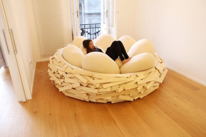 This Human Sized Nest Is The Cure For The Common Couch (6 pics)