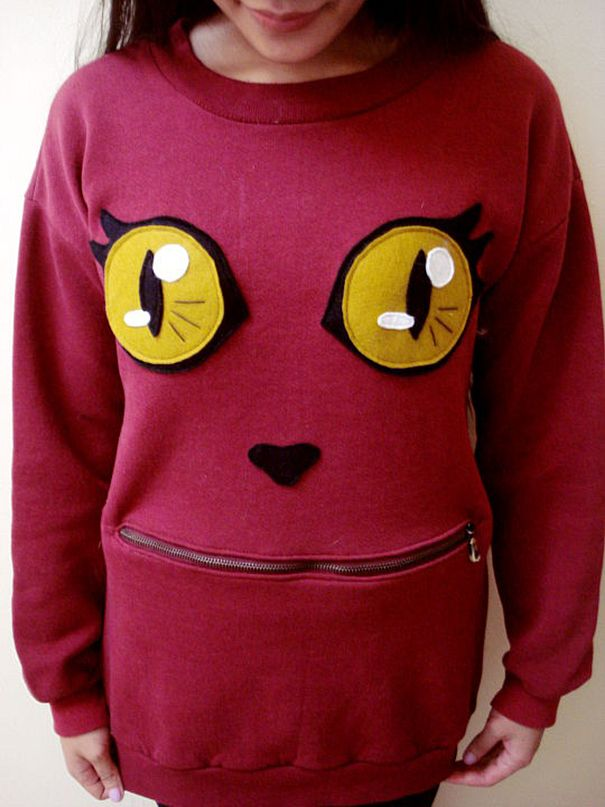 This Zipper Mouth Cat Sweater Is Something You Need To Make (15 pics)