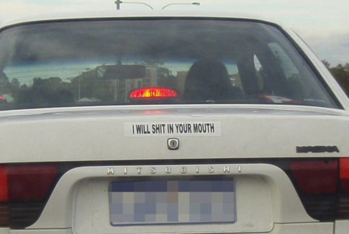 The World's Most Ridiculous Bumper Stickers (31 pics)