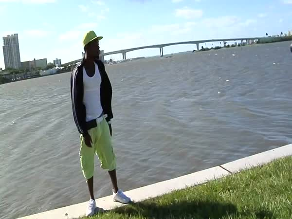 Guy Slips Off of Seawall During Photo Shoot