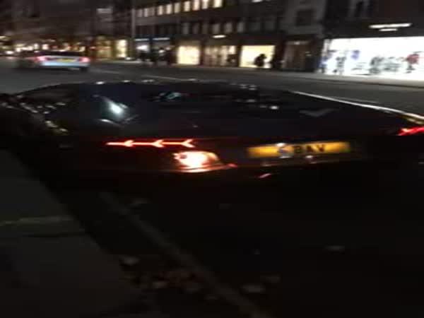 Lamborghini Caught Fire