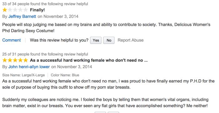 Ridiculous Amazon Reviews For A Sexy Women's Costume (10 pics)
