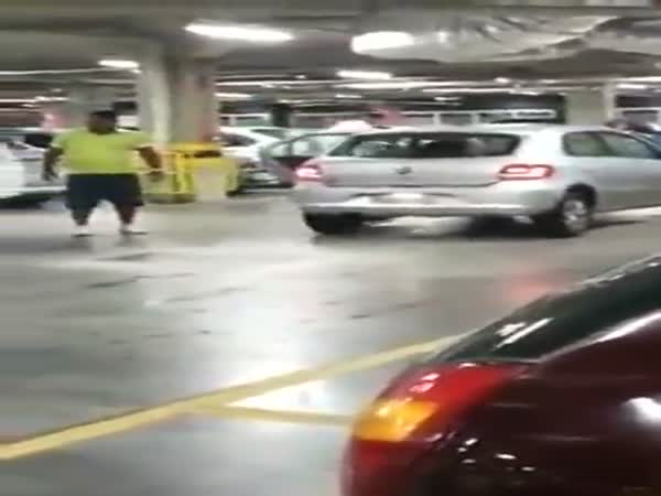 Road Rage in Parking Garage