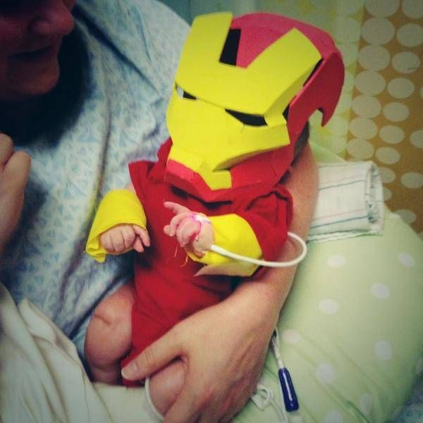 Father Makes Iron Man Costume For His Sick Infant Son (6 pics)