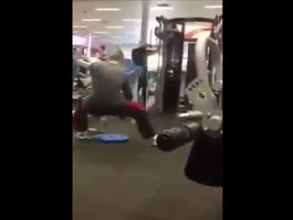 What Is This Guy Doing in the Gym